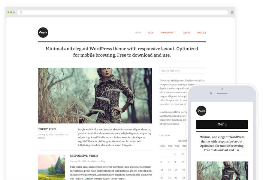 origi Best free wordPress themes for  blogs