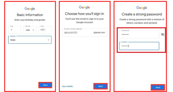 Enter-gender-in-gmail-id How to create Google Play Store ID?