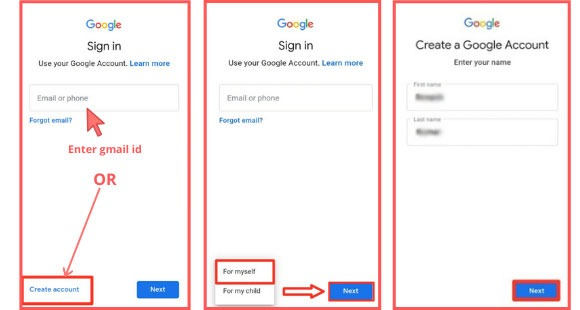 Enter-gmail-id How to create Google Play Store ID?